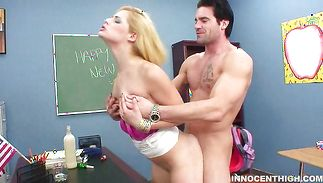 Amoral Ally Ann and lover are fucking in a doggy style position like wild animals