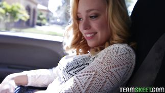 Voluptous blond Lucy Tyler is about to fuck man each once in a while