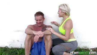 Appealing breasty blond darling Cristi Ann got a pipe up her tight bum and enjoyed it more than she hoped
