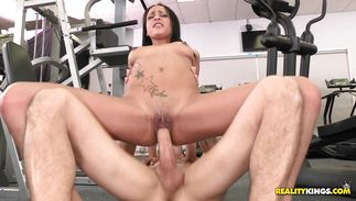 Delicious Kimberly Kendall cooking is interrupted by a hawt fuck session