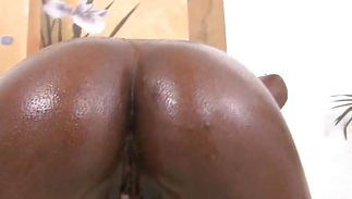 Breathtaking chick Avanti has her big wazoo oiled before being banged