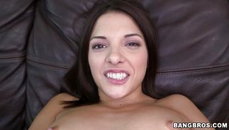 Lusty dark-haired playgirl Evilyn Fierce doesn't care who's hard meat bazooka she's riding on