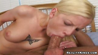 Dazzling juvenile Tricia rides and cums so rock hard