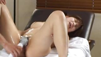 Admirable babe with big tits getting her wet pussy fucked real hard