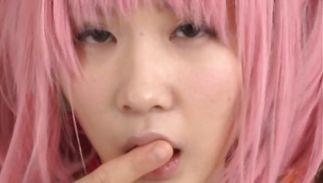 Wanton juvenile Uruha Mizuki gets her poontang pounded in close up