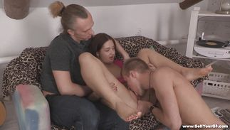 Luxurious girl Lappi Sy cant wait to sit on a large boner