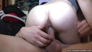 Lustful Alena blows a diminutive boner