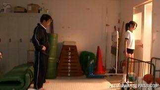 Playful hottie Rino Akane enjoys riding a pulsating and hard schlong