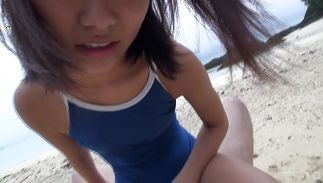 Charming teen sweetie is sucking fang like a pro and enjoying it a lot