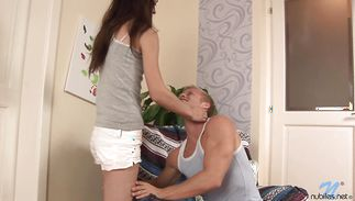Tasty brown-haired Aimee Ryan is waiting for mate to fuck her