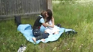 Angelic sweetie Valeriya is fucking with lover while her spouse is out of city