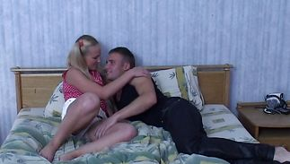 Vigorous blond hotty has her tits and pussy fucked
