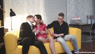 Alina is naughty and she adores sucking a hard penis