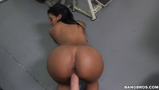 Man got a blowjob from hot girlie Aaliyah Grey with firm tits previous to he fucked her brains out