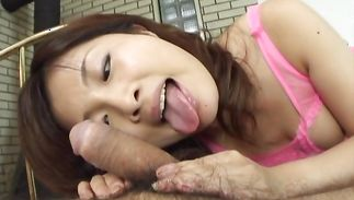 Delectable gal Kana Shimada is getting a fang in her tight box for the 1st time